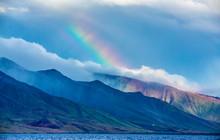 Maui 2020 Rainbow Over Mountains