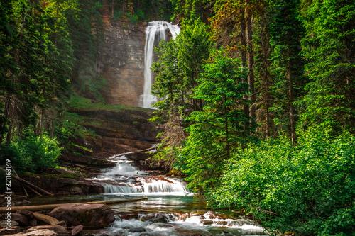 Photo Virginia Falls in Glacier National Park in Montana