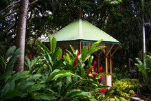 Gazebo Hiding In A Garden