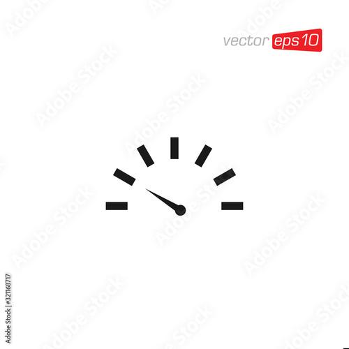 Fototapeta Speedometer Icon Design Vector Illustration obraz na płótnie