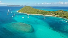 Aerial Views Caribbean Islands And Beaches, St. Vincent And Grenadines, Caribbean