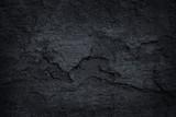 Fototapeta Kamienie - Dark grey black slate stone background or texture