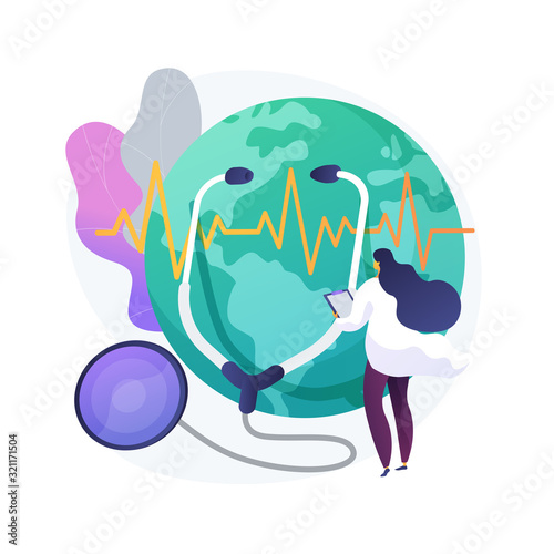 Nature examination idea, planet health day Wallpaper Mural