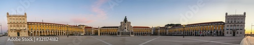 Fotografie, Obraz Lisbon Portugal sunrise panorama city skyline at Arco da Rua Augusta and Commerc