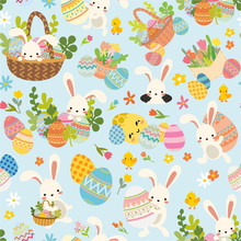 Seamless Easter Pattern With W...