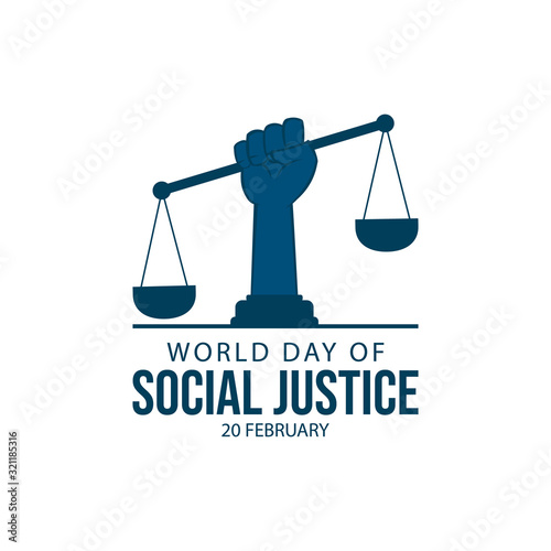Fototapeta World day social justice vector image