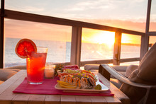 Oceanfront Dining At Sunset Wi...