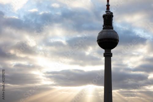 Berliner Fernsehturm, sightseeing Canvas Print