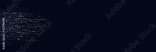 Obraz abstract hi speed internet technology background - fototapety do salonu