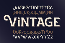 Vector Vintage Style Typeface....