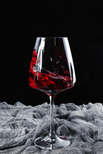 A Glass Of Red Wine And A Place For Text