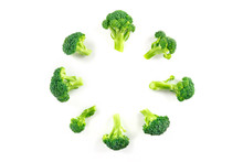 Broccoli Florets, Shot From Th...