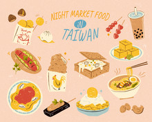 Delicious Taiwan Night Market Food