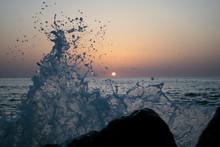 A Beautiful Sunrise At Sea. Bo...