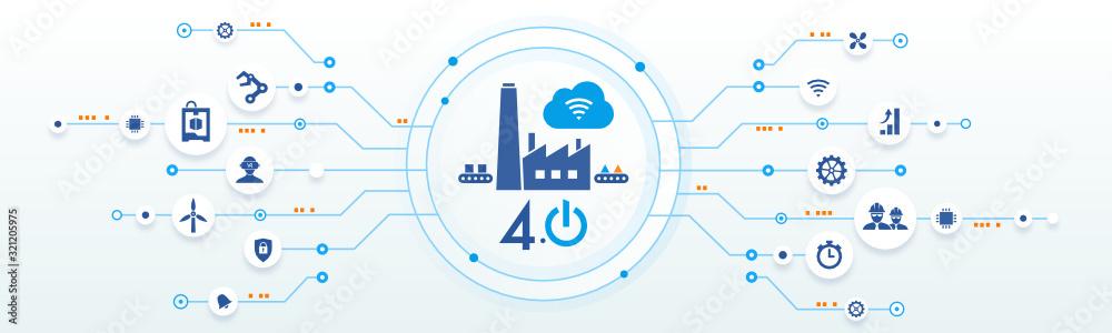 Fototapeta industrie 4.0 - usine du futur - smart industry