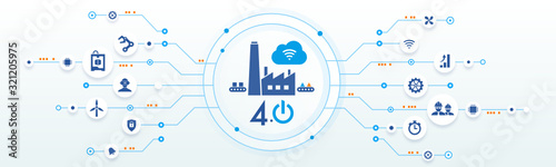 Fototapeta industrie 4.0 - usine du futur - smart industry obraz