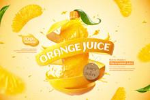 Orange Bottle Juice Ads