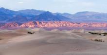 Sand Dunes And Sunset  - California