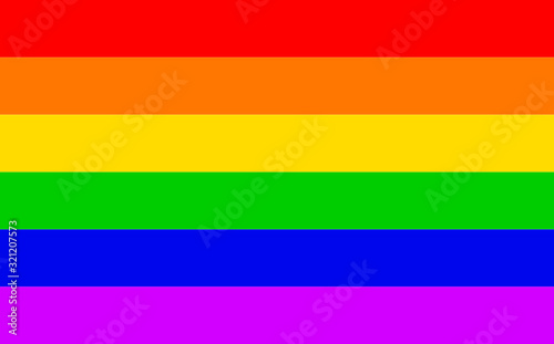Gay Rainbow Transgender Rainbow Flag Canvas Print