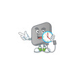 Power bank cartoon character style with a clock