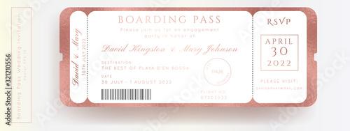 Destination Wedding Pass Vector Fototapete