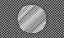 Vector Glass Ellipse On A Tra...