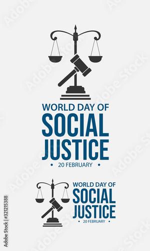 Fotografia World day social justice vector