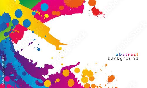 Photo Kolorowe kleksy. Abstrakcyjne tło wektor.