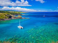 Landscape Of Honolua Bay In Ma...
