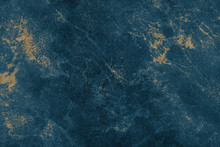 Dark Blue And Golden Marble Or...