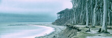 Panoramic Seascape In Winter, ...