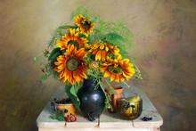 Beautiful Bouquet Of Sunflower...