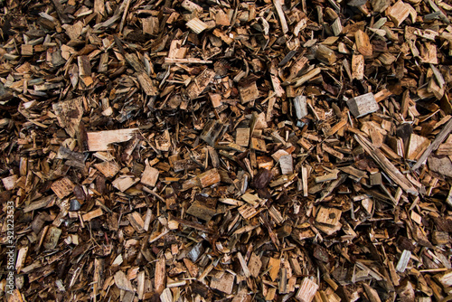 Fotografia, Obraz wood chips lying on the heap