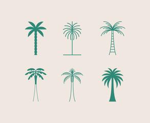 Predložak za dizajn logotipa s palmom - apstraktna značka i amblem za ljetovanje i odmor za odmor, turističke usluge, tropski lječilišni i kozmetički studiji