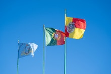 Three Flags Flying In Portugal...