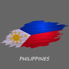Grunge Styled Flag Philippines