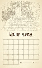 Monthly Planner. City Sketchin...