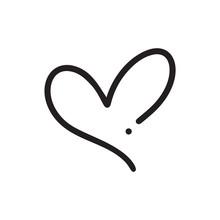 Monoline Heart Love Logo Sign....