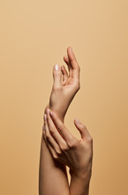 Cropped View Of Female Hands I...