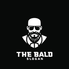 Bald Man Character Logo Icon D...