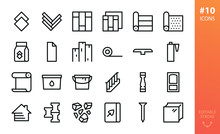 Building Materials Icons Set. ...