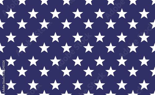Obraz Seamless star pattern background. Repeat vector star american flag wllpaper - fototapety do salonu