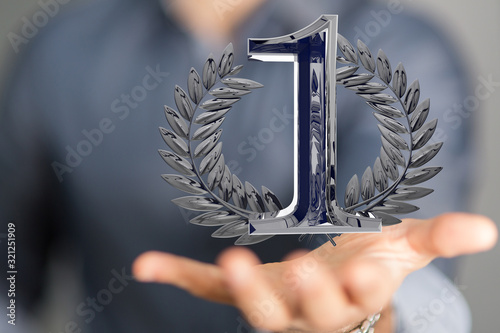 Fototapeta One Anniversary 3d 1 Years or award. event party obraz