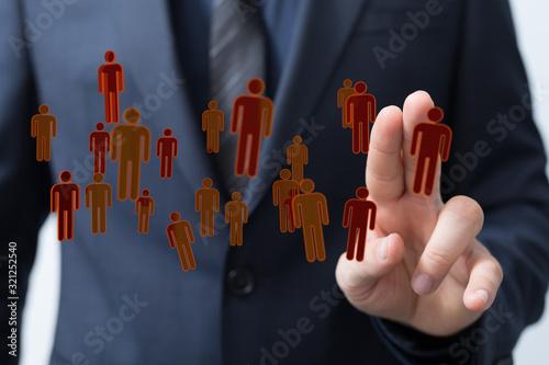 Fototapeta social network and leadership as concept.You need resource obraz