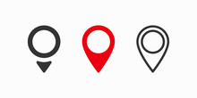 Red Maps Pin. Location Map Icon. Location Pin. Vector Icon