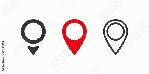 Obraz na plátně Red maps pin. Location map icon. Location pin. Vector icon