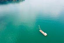 Fishing Boat On The Water In Sun Moon Lake