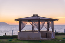 Viewing Gazebo Near The Sea In...