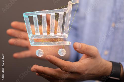 Fototapeta Add To Cart Internet Web Store Buy Online E-Commerce concept. obraz