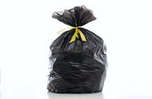 Trash, Black Garbage Bag Full ...
